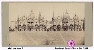 ITALIE-VENISE-BASILIQUE-SAINT-MARC-SAN-MARCO-STEREO-VIEW-1870-P309