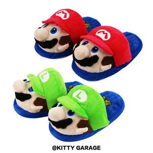 aa5c32595857d LIVRAISON GRATUITE. Chargement de l image en cours Super-Mario-Bros-Yoshi- Pantoufles-Peluche-Souple-Chaussons-