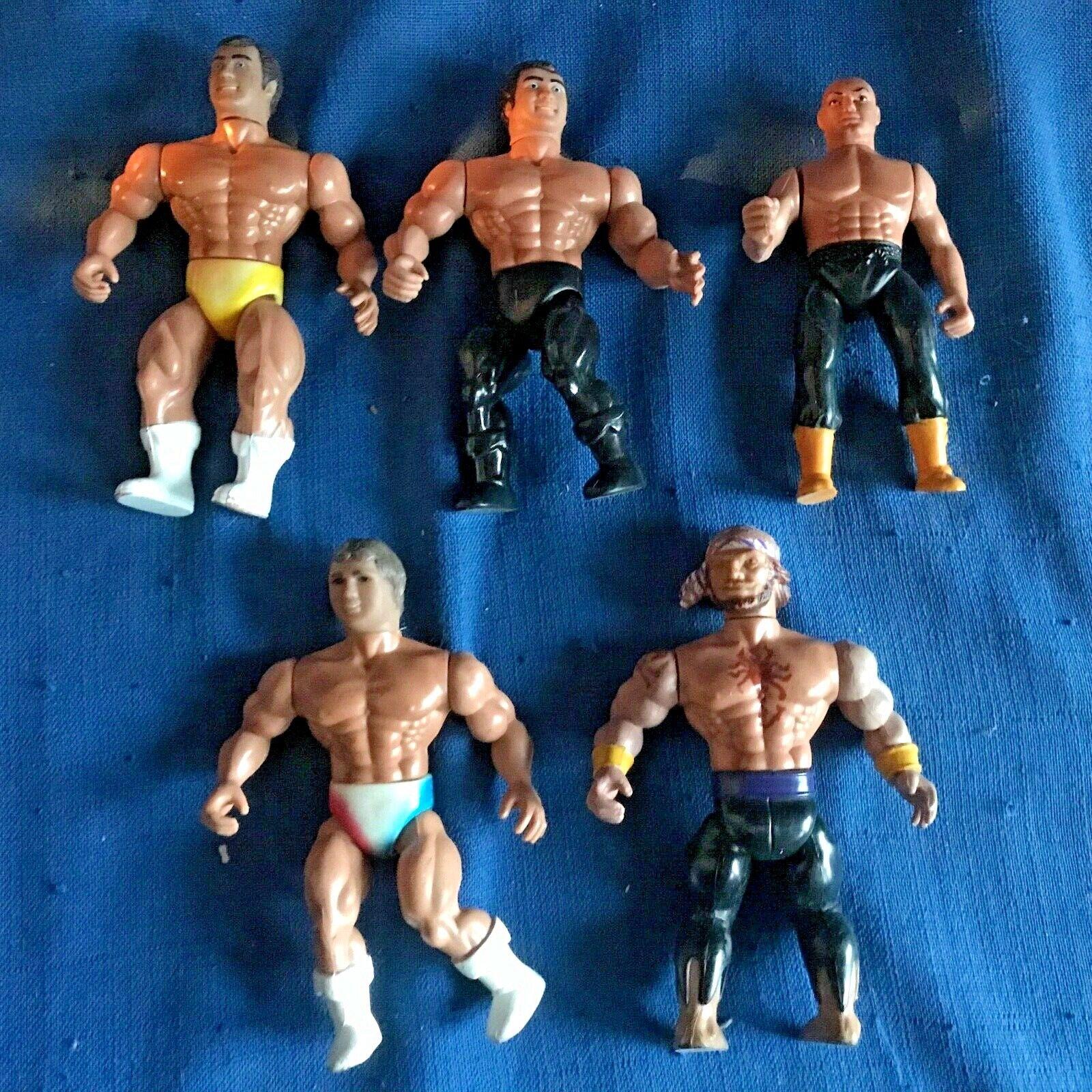Vintage Lot of 1985 Remco AWA Wrestler & Pirate Action Figures WCW WWF WWE Nice