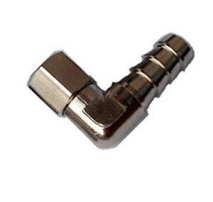 "5//16/"" Barb x 1//8/"" Female NPT Brass 90° Elbow Swivel Rotating 360 Fitting N-i2"