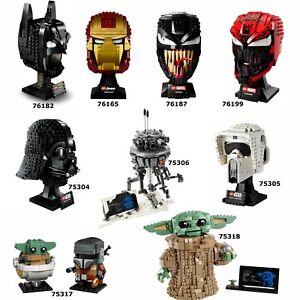 LEGO Büste Kopf Star Wars / DC Comics / Marvel freie Auswahl N5/21