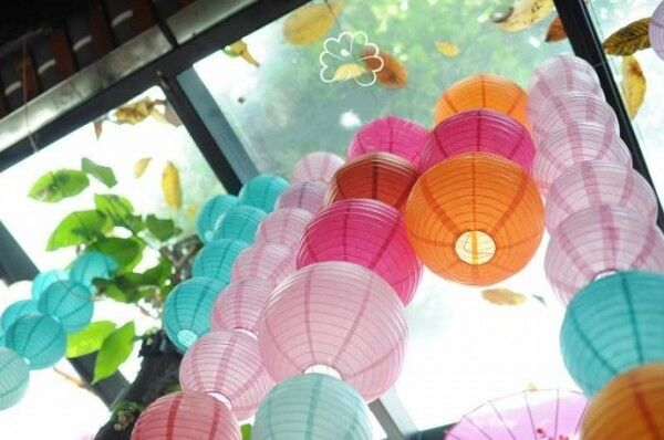 "PAPER LANTERNS PARTY WEDDING DECO 8""10""12""14""16"" 10 COLOURS FREE UK POSTAGE"