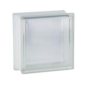 4 pièce Briques de Verre Quadrillèe Incolore 19x19x10 cm