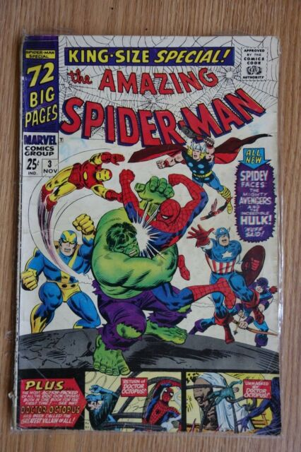 717369f1 The Amazing Spider-Man Annual #3 (Nov 1966, Marvel) for sale online ...