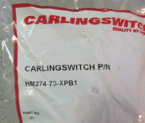 CARLING SWITCH P//N HM274-73-XPB1 Part No P NEW IN PACKAGE 11//2HP 250V AC Toggle