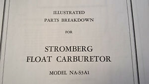 Details about Stromberg NA-S3A1 Carburetor Parts Manual