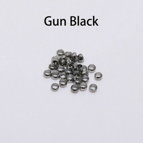 500pcs Rondelle Crimp End Finding Stopper Spacer Beads For DIY Jewelry Making