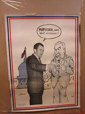 Nixon Vintage Poster poppyCock. Sam! original 2400