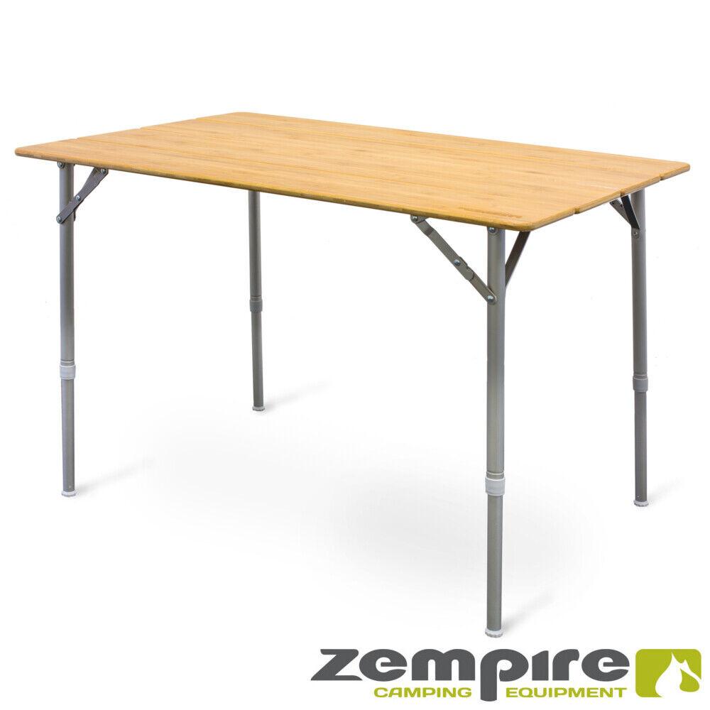 Design Campingtisch XXL Bambusplatte Klapptisch Falttisch Tisch Flaschenöffner