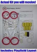 1987 Williams F-14 Tomcat Pinball Machine Rubber Ring Kit
