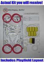 1987 Williams F-14 Tomcat Pinball Machine Rubber Ring Kit
