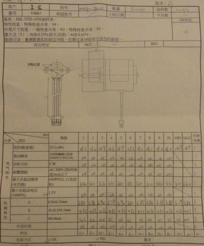 VITECH Mini Stepping Motor 82P2 25OHM M10SP-GW25 V0067 MILSTD-105E