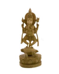 Statua Di Ganesh Elefante IN Legno 100% Artigianato India Peterandclo 7464