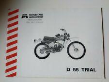 Catalogue pièces détachées Motobecane Motoconfort D 55 trial d55