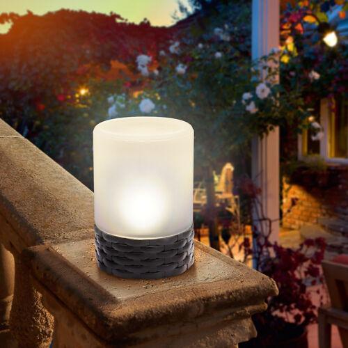 DEL Solaire Lampe de table en rotin lampe solaire Dekoleuchte Éclairage de jardin Lampe de jardin