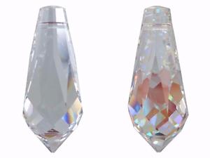 SWAROVSKI CRYSTAL GOCCIA 38x16 8601 autentico Elemento Ciondolo Lampadario vetro artigianale  </span>