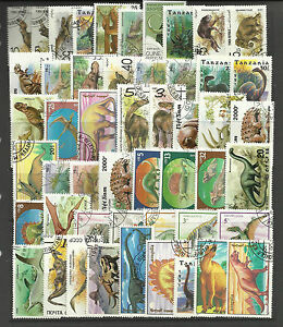 DINOSAURS-Collection-Packet-of-50-Different-WORLD-Stamps