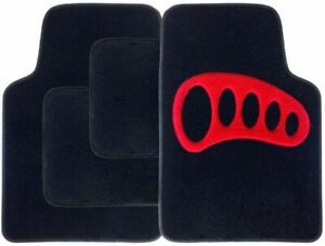 BLACK CAR MATS WITH BLUE HEART HEEL PAD FOR MINI ONE COOPER S CLUBMAN PACEMAN