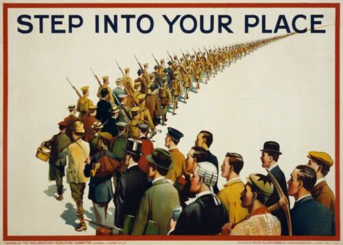 STEP INTO YOUR PLACE British WW1 Propaganda Poster
