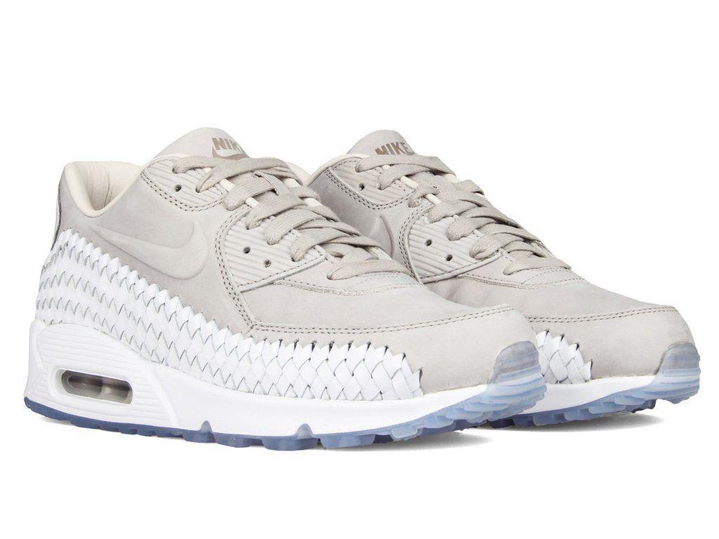SZ 10 Nike Air Max 90 Woven Iron Ore White 833129-005 Running shoes Men's AM90