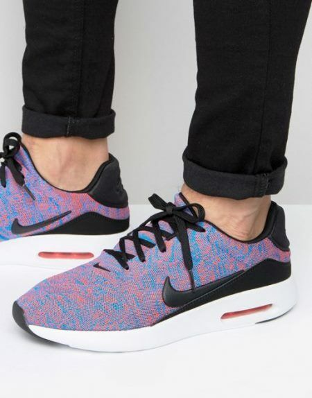 Nike Air Max Modern Flyknit trainers shoes Sneakers Lace Running Men's bluee