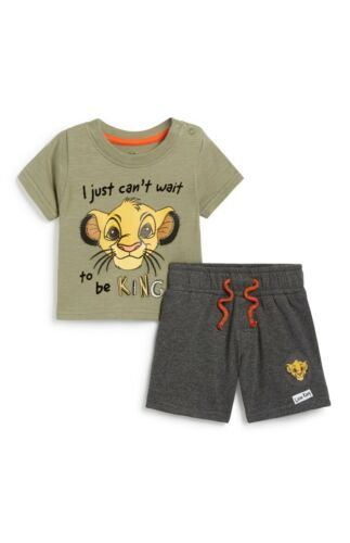 Primark Bebé Niños Disney Rey León Top Y Cortos Set BNWT todas las edades..