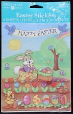 4 Sealed Sheets Vintage American Greetings Easter Bunny Stickers