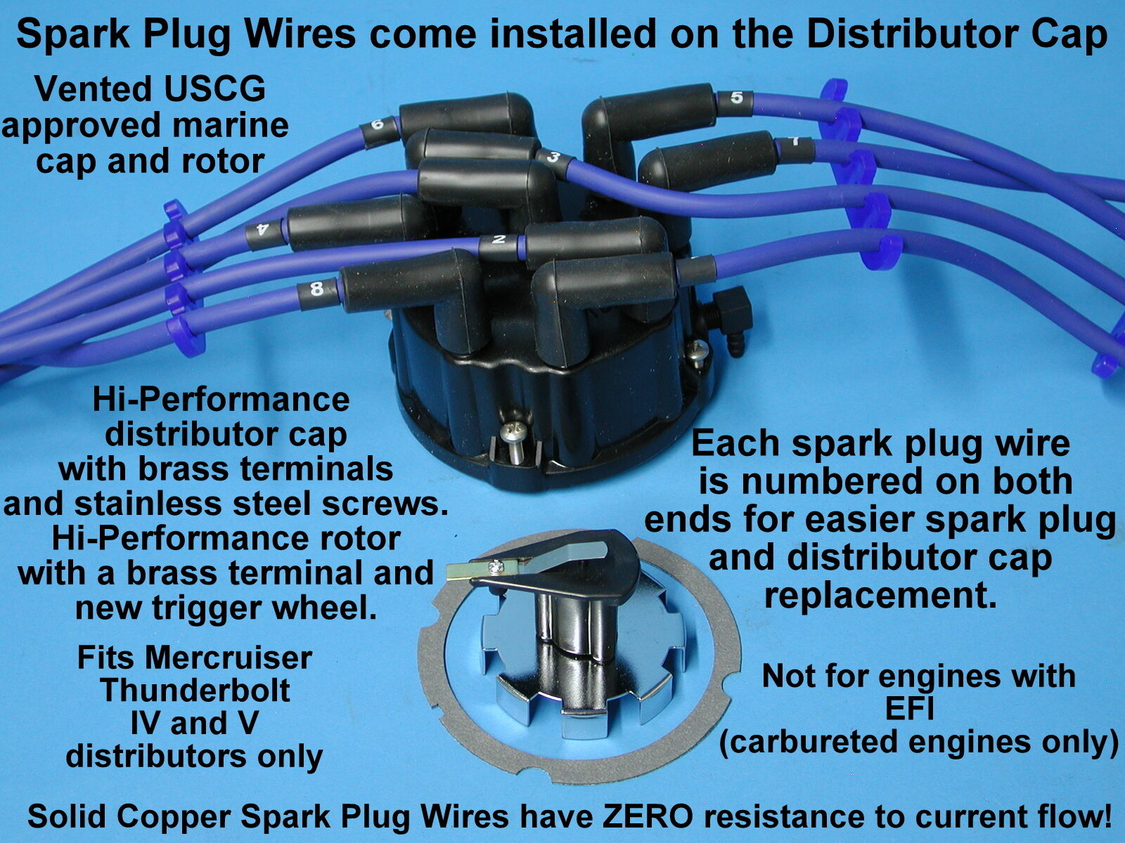 Tune Up Kit Mercruiser V8 454 502 Spark Plug Wires Distributor Cap Wiring Norton Secured Powered By Verisign