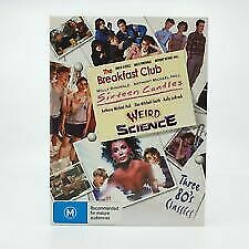 The-Breakfast-Club-Sixteen-Candles-Weird-Science-DVD-Region-4-vgc-t2