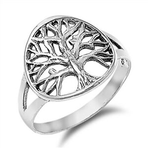Silver Tree Of Life Ring 925 Sterling Christian Catholic