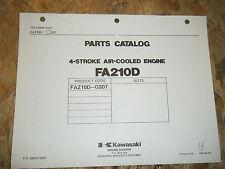 KAWASAKI 4 STROKE AIR COOLED ENGINE FACTORY PARTS CATALOG FA210D-GS07 MANUAL