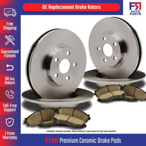Front+Rear Kit 4 OEM Repl Brake Rotors 8 Ceramic Pads Fits: 4lug High-End