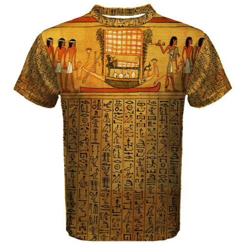 Nouvelle EGYPTE PAPYRUS Hiéroglyphes De Sport Hommes Mesh Tee T Shirt S-5XL livraison gratuite
