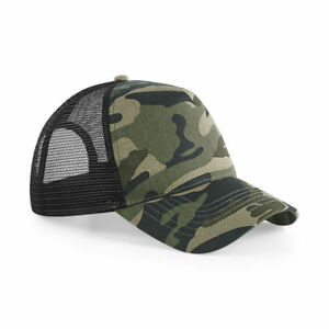 Details about Ladies Beechfield Camo Retro Style Hats Snapback Size  Adjuster Womens Caps UK 28f43c12f5d