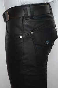 Studded-black-leather-jeans-pant-custom-made-strong-leather-nice-cut-sturdy-GTC
