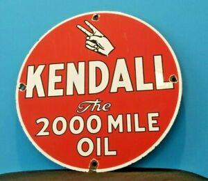 VINTAGE-KENDALL-MOTOR-OIL-PORCELAIN-GAS-MOTOR-OIL-SERVICE-STATION-PEACE-SIGN