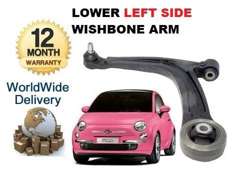 FOR FIAT 500 500C 2007--/> LEFT HAND SIDE LH LOWER SUSPENSION WISHBONE ARM
