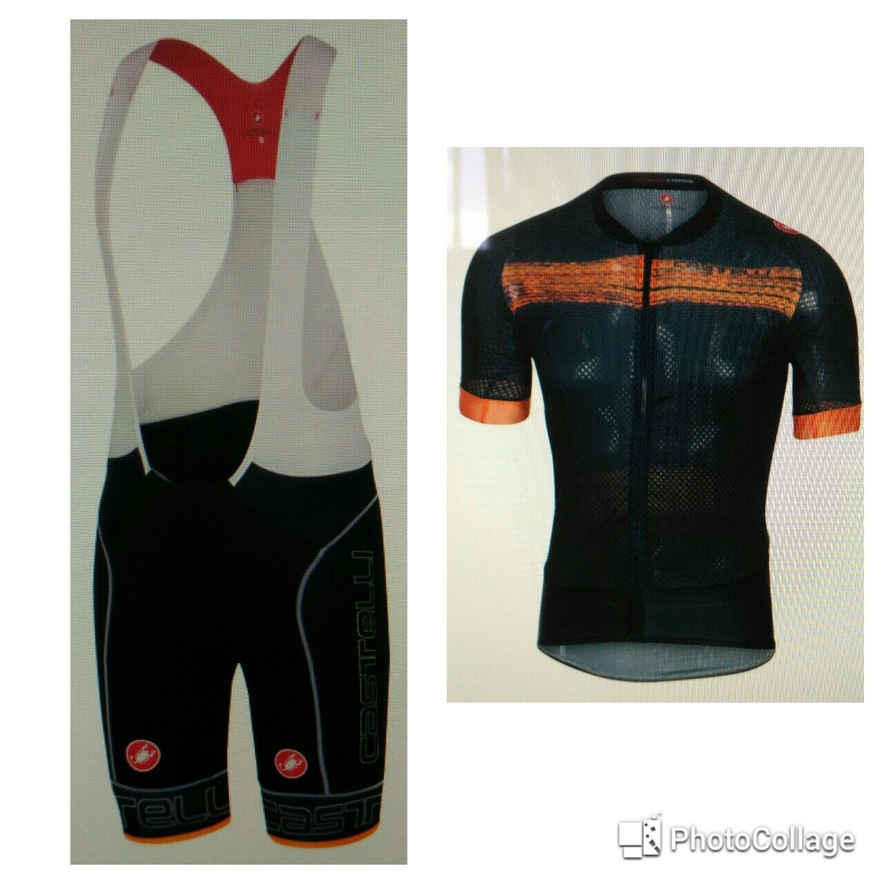Set Sommer Castelli free Aero-Kletterer 2.0 Farbe weiß-schwarz-Orange