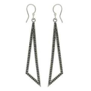 Round-Black-Spinel-Gemstone-Holo-Earring-For-Womens-925-Sterling-Silver-SHER0033