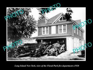 OLD-LARGE-HISTORIC-PHOTO-OF-LONG-ISLAND-NY-THE-FLORAL-PARK-FIRE-DEPARTMENT-1920