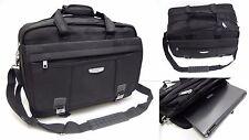 Mens Ladies Quality Large Black Expandable Laptop Bag Executive Work Briefcase