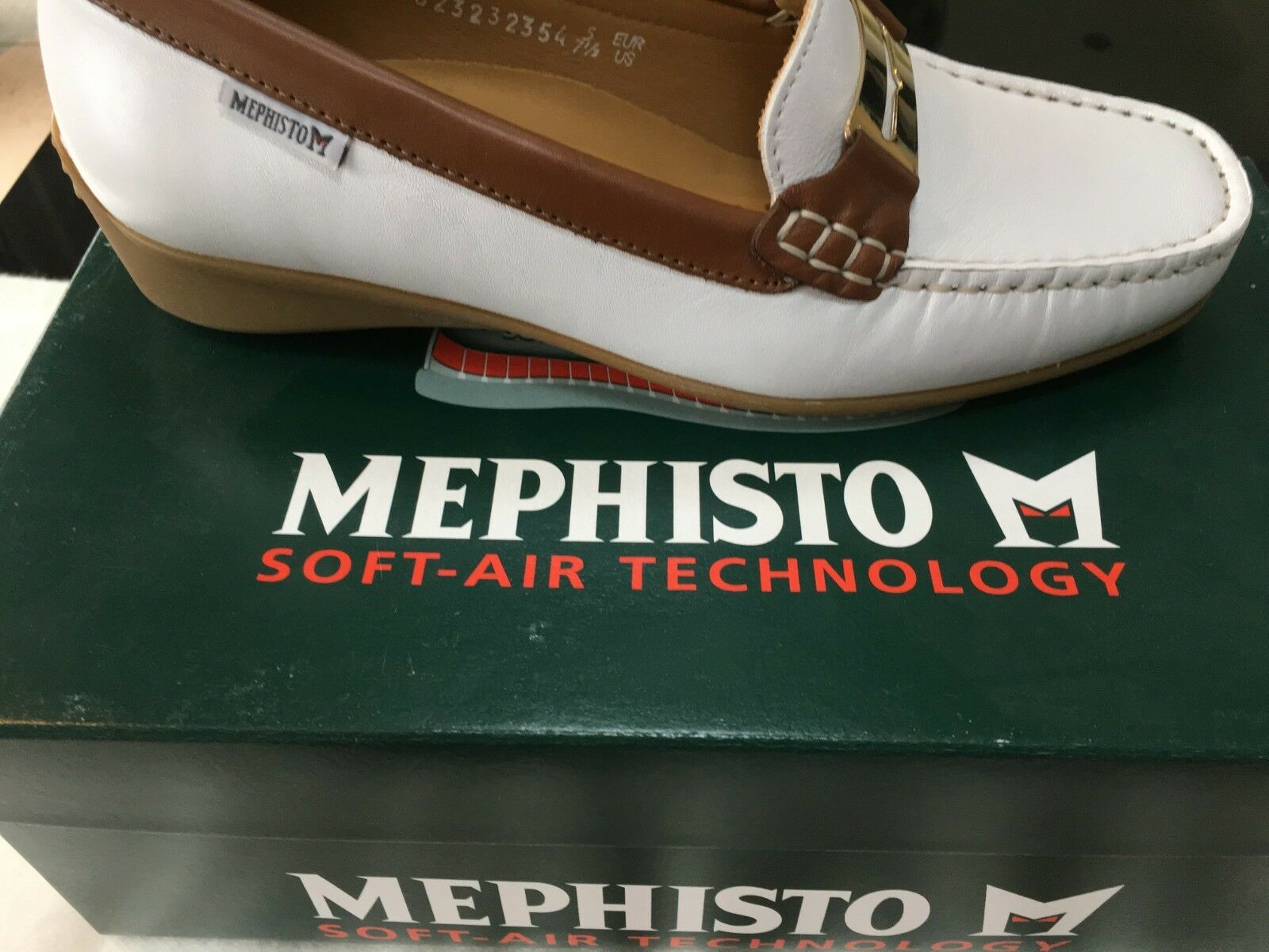 Mephisto Norma Moccasin White Leather Womens Size 5 UK