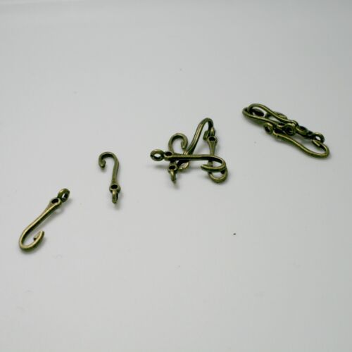 279 40 Fish Hook Charms Fishing Pendants Antique Bronze Metal 20 x 5 mm