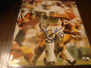 d2aaf488dc5 Larry Csonka Autograph   Signed 8 x 10 photo Miami Dolphins HOF 87 ...