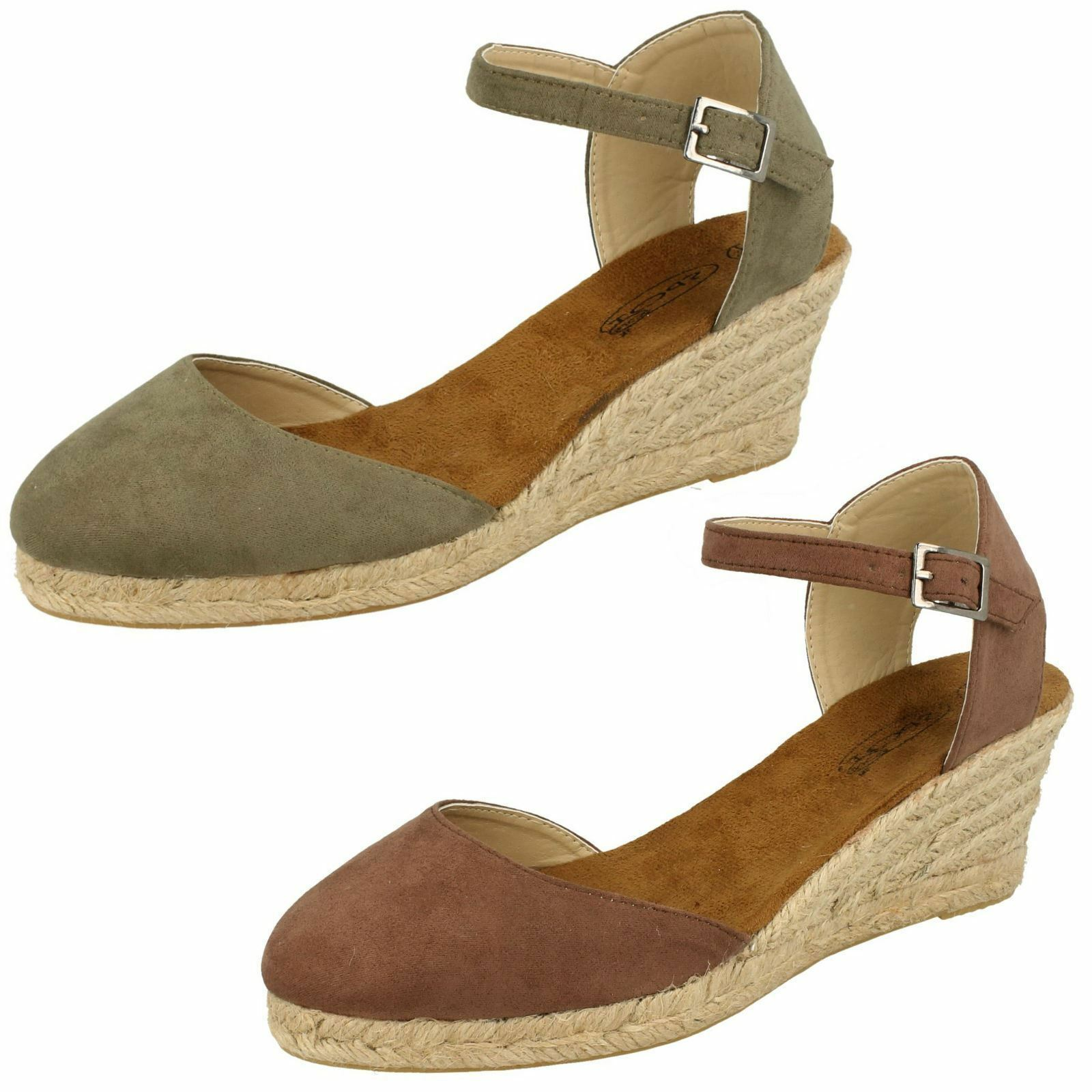 Gentlemen/Ladies Ladies Spot On Wedge Heel 'Sandals' High on-time grade First quality Rich on-time High delivery ad3c6a