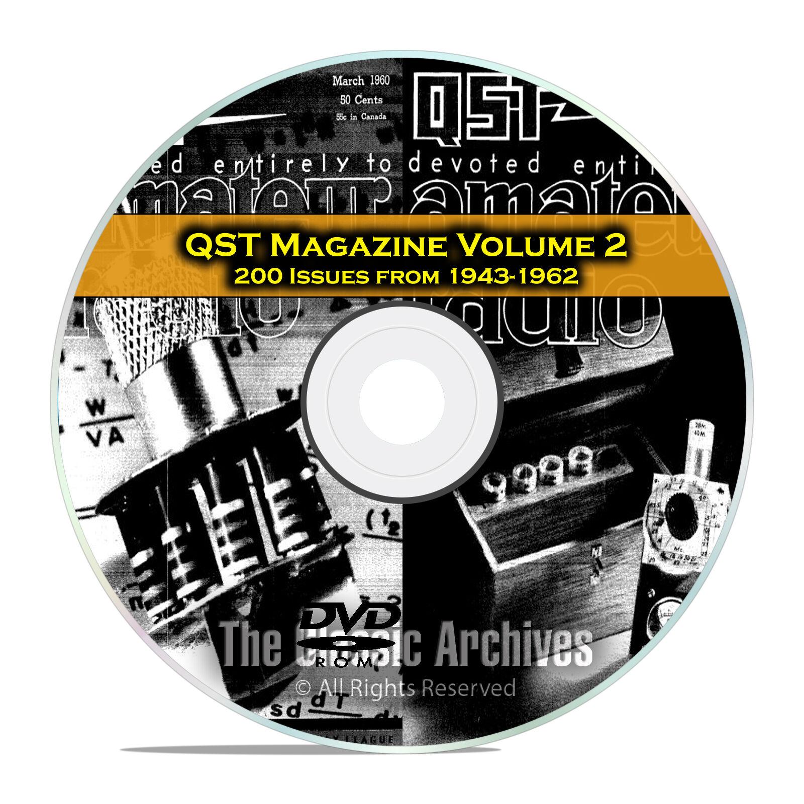 QST Magazine Volume 2 200 Vintage Old Time Ham Radio Issues DVD CD C06