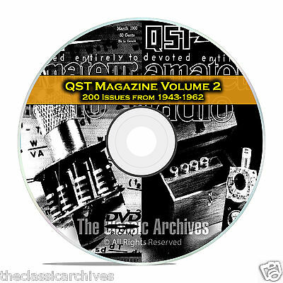 QST Magazine, Volume 2, 200 Vintage Old Time Ham Radio Issues DVD CD C06