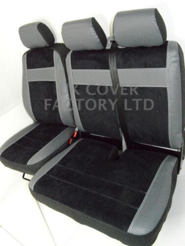 FORD TRANSIT 2006+ VAN SEAT COVERS BLACK ALCANTARA UPGRADE MADE TO MEASURE X70BK