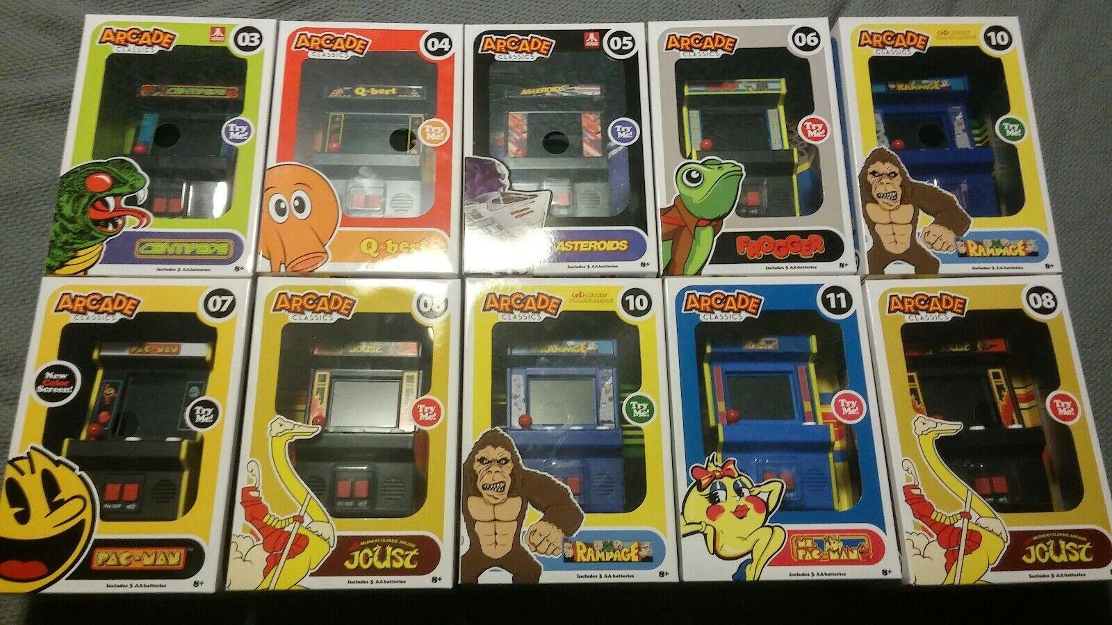 Brand New Mini Arcade Arcade Arcade Classics 10 Games Rampage Joust Ms. PacMan Qbert Frogger acf01b