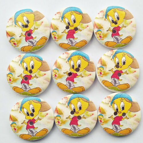 Cartoon Wooden Button for Clothes Sewing Diy Craft Pieces Diy Supply 1/'/' 25mm